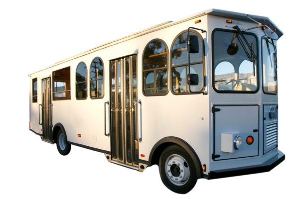 Santa Barbara Wedding. Trolley